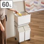 ショッピング分別 分別ゴミ箱 資源ゴミ 分別ワゴンペール 60L キャスター付き ( ごみ箱 ダストボックス キッチン 5分別 )