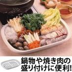 盛り付け皿 鍋の幸 サービストレー 目皿付き プラ