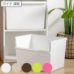 収納ボックス ワイド深型 カラーボックス インナーボックス 収納 日本製 ( 収納ケース プラスチック 横置き おもちゃ箱 )