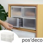 収納ケース ポスデコ ワイドサイズ 深型ショート4段 カラーボックス用 ( 収納ボックス 小物収納 収納用品 )