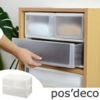 収納ケース ポスデコ ワイドサイズ 深型ショート2段 深型1段 カラーボックス用 ( 収納ボックス 小物収納 収納用品 )