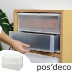 収納ケース ポスデコ ワイドサイズ 深型2段 カラーボックス用 ( 収納ボックス 小物収納 収納用品 )
