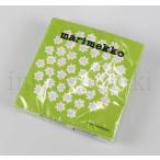 マリメッコ marimekko プケッティ ライトグリーン 紙ナプキン ペーパーナプキン 33cm 20枚入り 北欧 キッチン