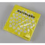 マリメッコ marimekko プケッティ イエロー 紙ナプキン ペーパーナプキン 33cm 20枚入り 北欧 キッチン