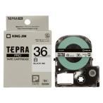 キングジム テプラ PROテープ 36mm 白/黒文字 SS36K 1個