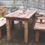 ジャービス商事 DRIFTWOOD TABLE 流木テーブル チーク/バンキライ 無塗装 35251 1台
