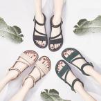 サンダル ウェッジソール レディース 厚底 ゴム シューズ 歩きやすい 疲れない  美脚  夏 3色 ローマ靴の画像