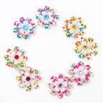 ペット ヘアアクセサリー 小さい花柄 リボン 犬用 トリミング用品 輪ゴムで結ぶタイプ