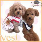 犬服 ベスト 秋冬 水玉コットンベスト 背中開き 着せやすい 脱がせやすい