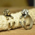 ビーグル 犬のリング (指輪) アンティーク テイスト