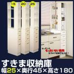 隙間収納 幅25cm キッチン収納ラック スリム型 洗面所 隙間家具 すき間収納