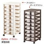 書類整理棚 レターケース 深型8段 キャスター付き 書類棚 B4サイズ対応 収納 オフィス家具 書類ケース