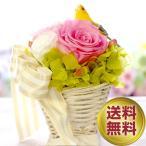 プリザーブドフラワー ギフト【小鳥のバスケット】誕生日 結婚式 電報 小鳥 鳥 お返し プレゼント 花 ブリザーブドフラワー