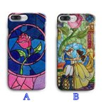 【 国内未発売 】 ディズニー プリンセス 美女と野獣 一輪の赤いバラ デザイン iPhone ケース