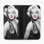 【 国内未発売 】 直貼りタイプ レッドバブル RED BUBBLES Marilyn Monroe マリリンモンロー iPhone 手帳型カバー