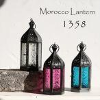 モロッコランタン・キャンドルホルダー 高さ17.5cm オリエンタルランプ6面のレリーフガラス Morocco Lantern Candle holder
