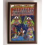 トルコ陶器・手書きタイルのパネル6枚額 ミニアチュール