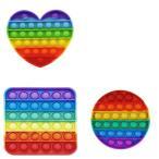 プッシュポップ バブル 虹色 スクイーズ 知育玩具 プチプチ ゲーム ストレス発散 インスタグラム インスタ映え youtuber