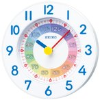 【セイコー】SEIKO 置き掛け兼用・知育時計 KX619W 【時の逸品館】