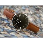 ダニエル ウェリントン DANIEL WELLINGTON 腕時計 DW00100234 DW00600234 シルバー 28mm PETITE DURHAM ペティット ダラム ブラック