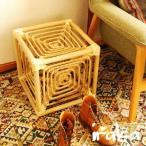 岡本太郎  サイコロ椅子 籐製スツール