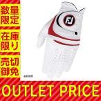 ゴルフ 手袋 メンズ FOOTJOY グローブ ウェザーソフ ホワイト/レッド 右利き用 FGWF15WR フットジョイ【メール便】