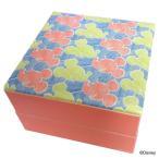 重箱 おしゃれ ファミリー 2段 ミッキー ディズニー キャラクター 子ども 子供 布貼重箱 横顔 15358 ヤクセル