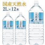 水 2リットル 12本入 ミネラルウォーター ペットボトル 天然水 2L×12本 飲料水 飲料 ドリンク 飲み物 自然の恵み天然水 2L LDC ライフドリンクカンパニー(D)