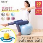 バランスボール 55cm フィットネスボール エクササイズ ストレッチ バランス ヨガ 運動 自宅 si-balanceball-55-aqua