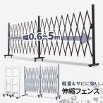 フェンス アルミ アルミフェンス 5m 柵 庭 扉 伸縮木製フェンス スタンド式 エクステリア 駐車場 門扉 5M伸縮フェンス KT1015-1 (D)