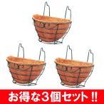 ハンギングバスケット 3個セット フックタイプ 幅25cm アイリスオーヤマ