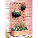 プランター付きラティス プランターボックス ラティス 樹脂 木製 アイリスオーヤマ ガーデンファニチャー