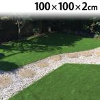 リアル人工芝 ロングパイル人工芝 100cm×100cm(厚さ2cm) LP-2011 アイリスソーコー