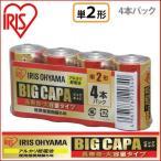 ショッピング大 アルカリ乾電池 BIG CAPA 長寿命・大容量タイプ 単2形4本パック アイリスオーヤマ【メール便】