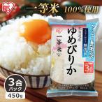パックご飯 450g 3合パック アイリスオーヤマ 米 お米 レトルトご飯 白米 パック米 一人暮らし 無洗米 生鮮米 ゆめぴりか 北海道産 おいしい