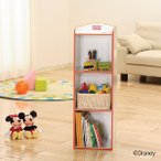 カラーボックス ディズニー ミッキーマウス キッズCBボックス 3段 MKC-3 レッド 数量限定 アウトレット