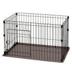 (セール)ペットケージ 犬 システムサークル トレー付 P-STN-550 アイリスオーヤマ(あすつく)