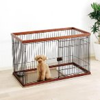 ペットケージ ドッグサークル 木製 トレー付 小型犬 中型犬 アイリスオーヤマ