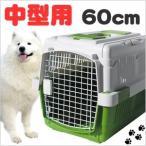 ペットキャリーケース ハードタイプ 中型犬用 ペットケージ 60cm グリーン ペットキャリー 犬 猫 ペット 移動 外出 旅行 簡易 犬小屋 ハウス