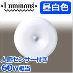ルミナス 人感LED小型ライト 〜4.5畳 TN-CLMS-N / 昼白色 810lm 60W相当 引掛けタイプ LED シーリングライト 小型 LED照明 ライト 省エネ エコ Luminous