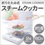 電気蒸し器 スチームクッカー 折りたたみ式 2段 EB-RM9900A 蒸し料理 蒸し器 セット ヘルシー 安心 安全 卓上 肉まん 温野菜 コンパクト