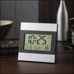 デジタル時計 置き時計 インテリアクロック アルミフレーム 掛け時計 デジタルクロック クロック アラーム カレンダー メール便送料無料