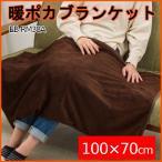 電気毛布 ブランケット 100×70 cm ヒーター付き 電気ひざ掛け毛布 膝掛け 毛布 ホットブランケット EB-RM38A