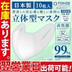 マスク 在庫あり 10枚 日本製 立体型 レギュラーサイズ 使い捨て 男女兼用 不織布 普通サイズ 送料無料