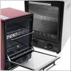 オーブントースター 省スペース 縦型 赤×黒 白×黒 トースター オーブン オーブントースター 縦型トースター 縦型オーブン CH-09V CH-09VWH