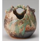 窯変手桶花瓶信楽焼 陶器 花器 花入 花瓶