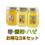 はちみつ 国産はちみつ 蜂蜜 ハチミツ 愛媛県産 春・みかん・ハゼ お得な3本セット(500g×3)