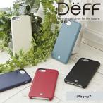 DEFF iPhone 7用 RONDA Soft Leather Case ジャケットタイプ ブラック DCS-IP7RABPLBK