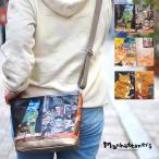 ショッピングマンハッタナーズ 【クーポンで500円OFF】マンハッタナーズ manhattaner's ショルダーバッグ レディース 斜め掛け 猫 ファスナー付き B5 サクサク2 071-2001 ブランド 猫柄