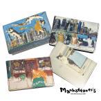 マンハッタナーズ カードケース パスケース トップパース レディース 猫 075-1010